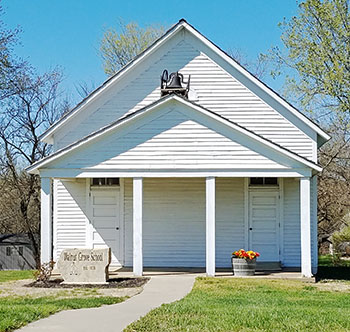 An old schoolhouse in Johnson County, Kansas