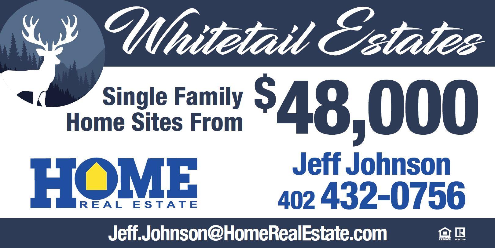 Whitetail Estates | Single Family Home Sites From $48,00
