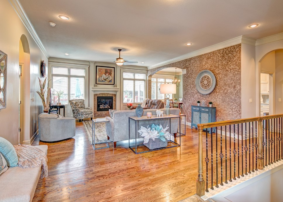 Condos, patio homes, villas, and townhomes in JoCo KS--a typical great room