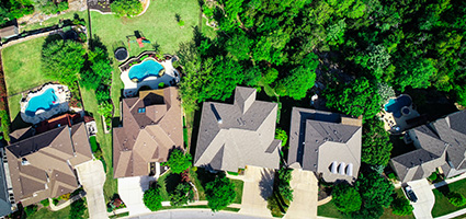 subdivisions aerial view of homes