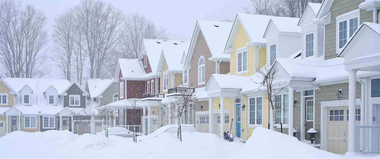 Townhomes in the wintertime