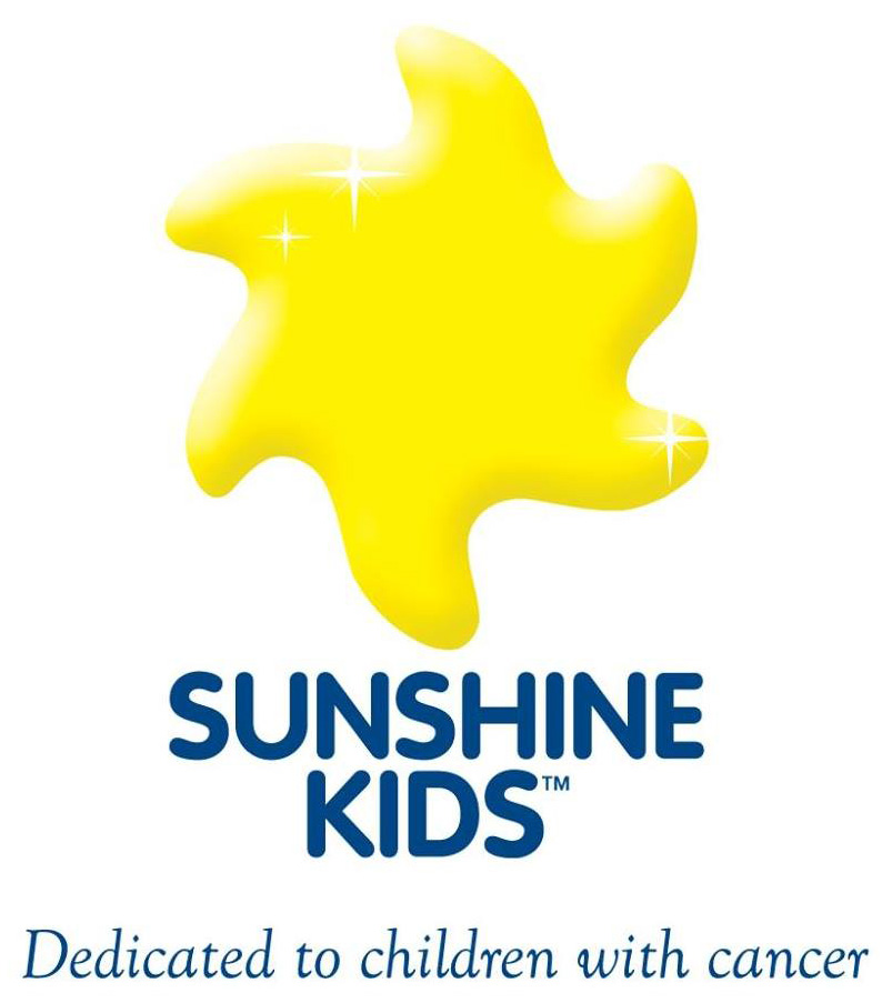 Sunshine Kids Dedicated to children with cancer logo