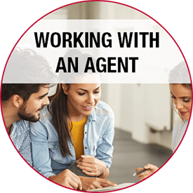 working with an agent button