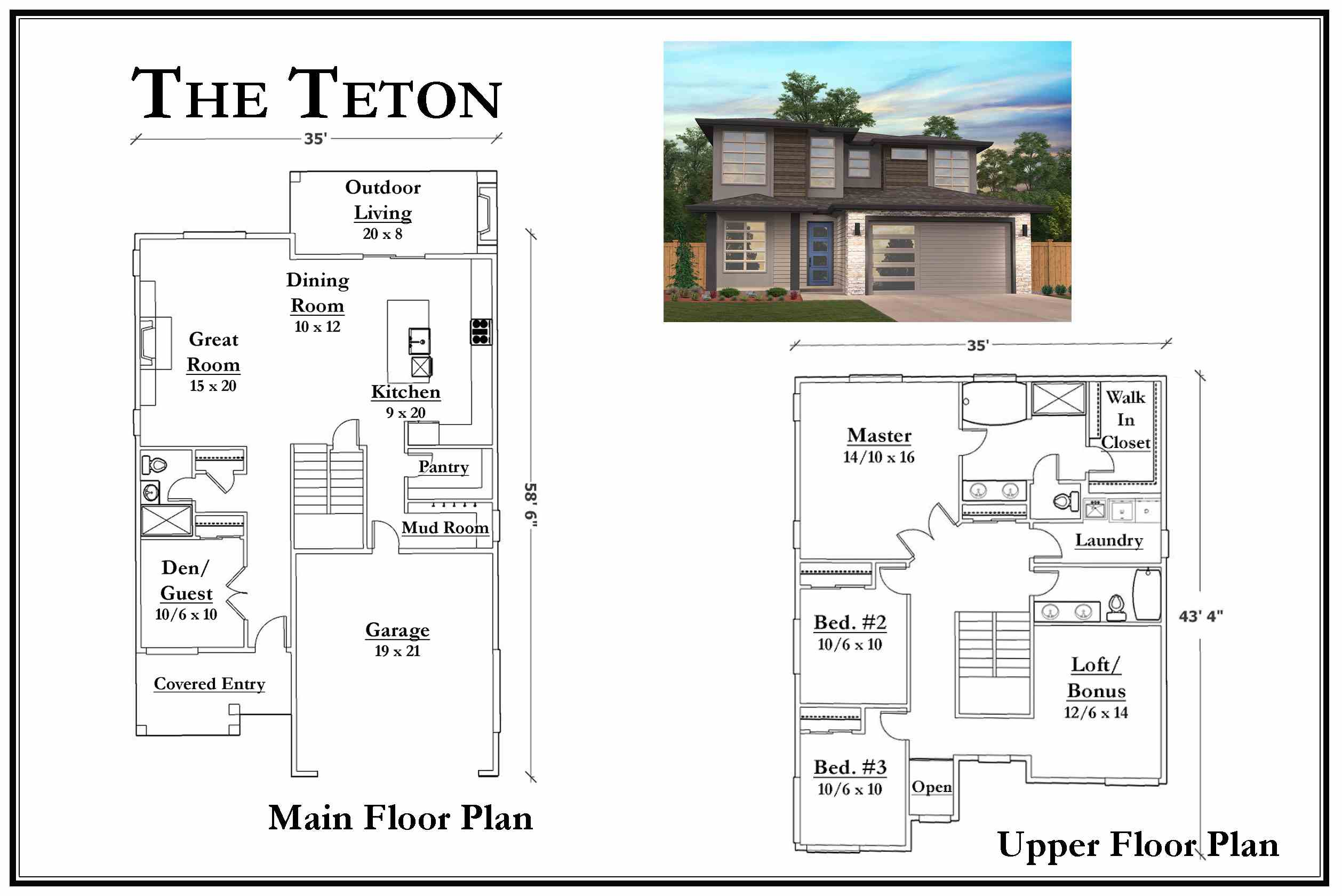 Kemmer Summit Teton Floorplan