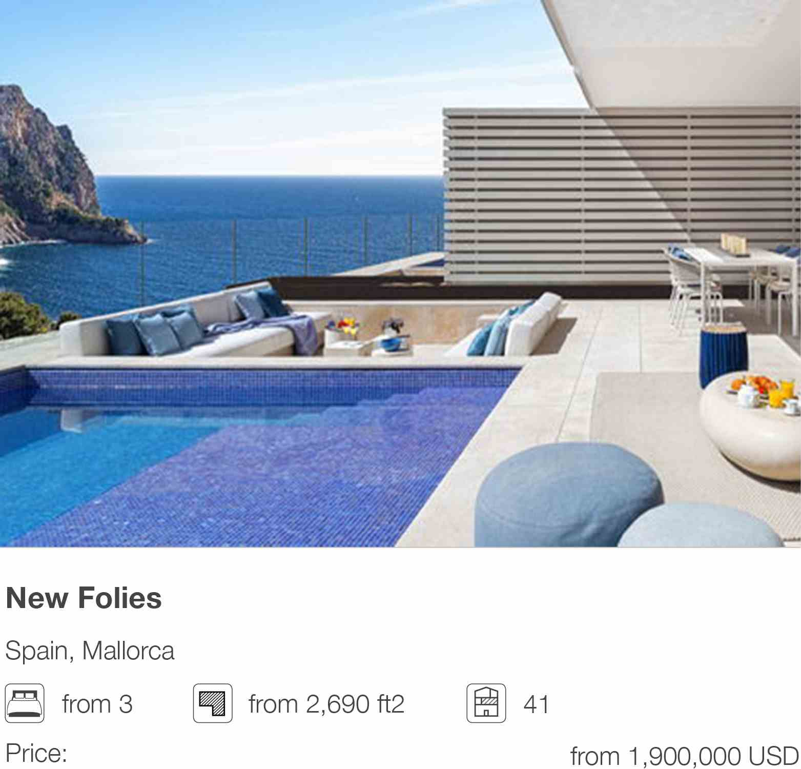 New Folies development in Mallorca, Spain