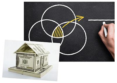 money house chalkboard graphic