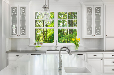a beautiful Kitchen in the springtime