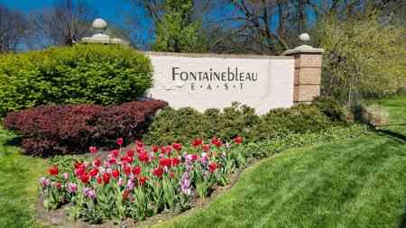 Entrance monument at Fontainebleau East
