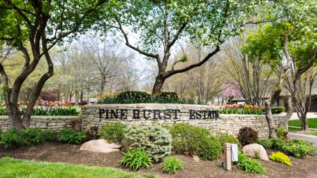 Entrance monument at Pinehurst Estates
