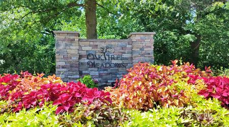 Entrance to Oak Tree Meadows on 119th Street
