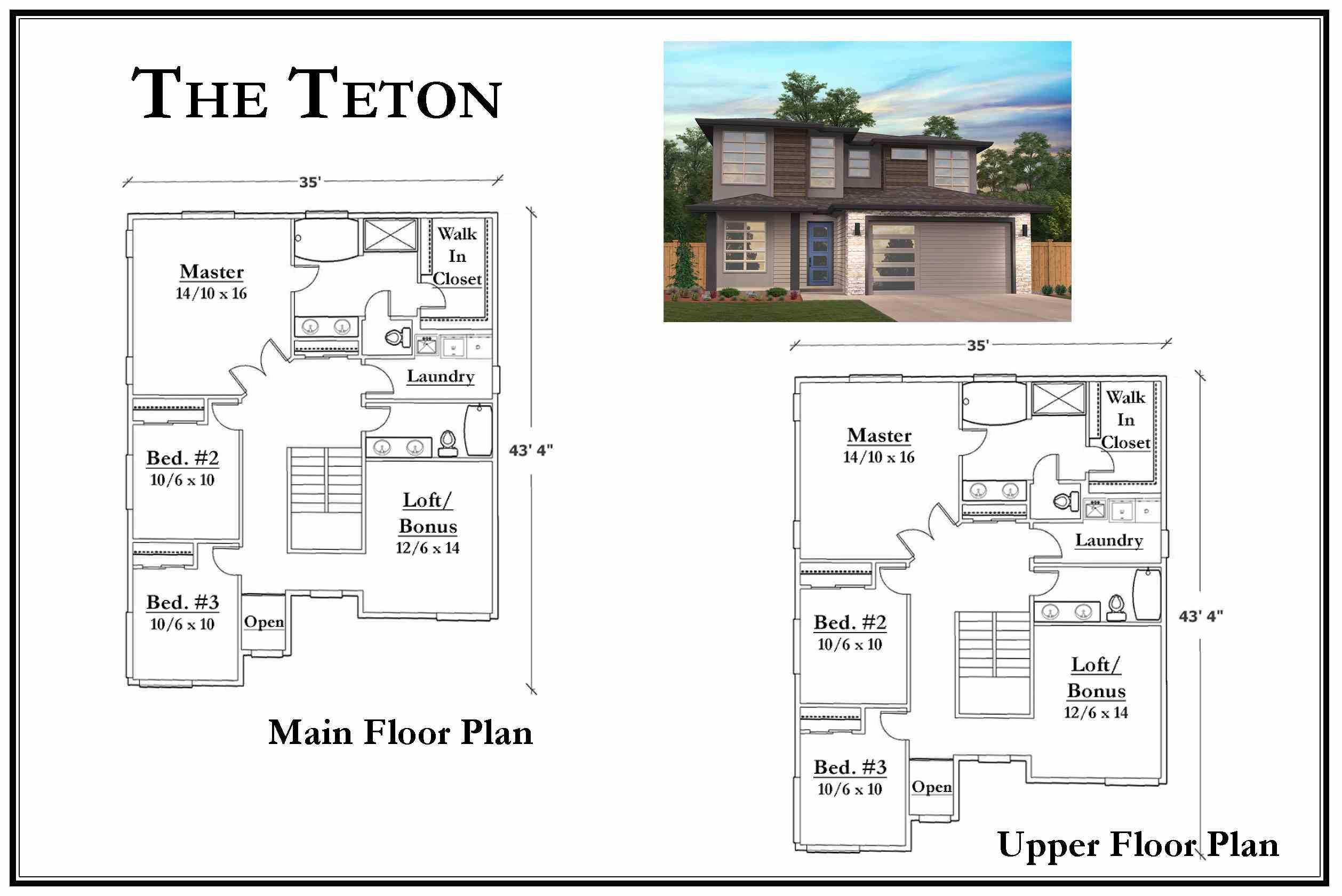 Kemmer Summit Teton Floorplan