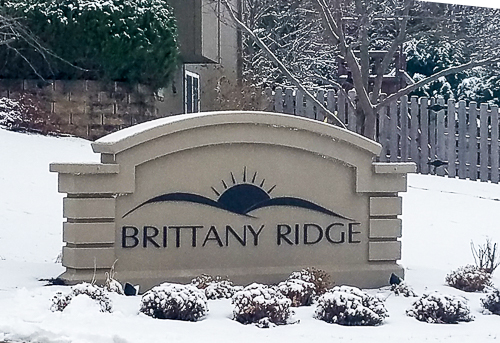 Brittany Ridge sign