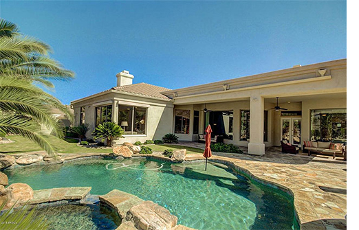 Outdoor patio and pool