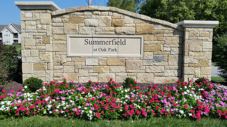 Entrance monument at Summerfield