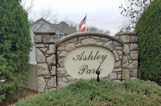 Ashley Park Subdivision Monument on Pflumm Road