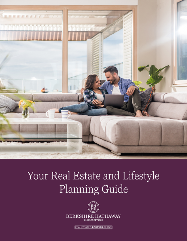 Lifestyle Planning Guide Cover with couple sitting on couch smiling