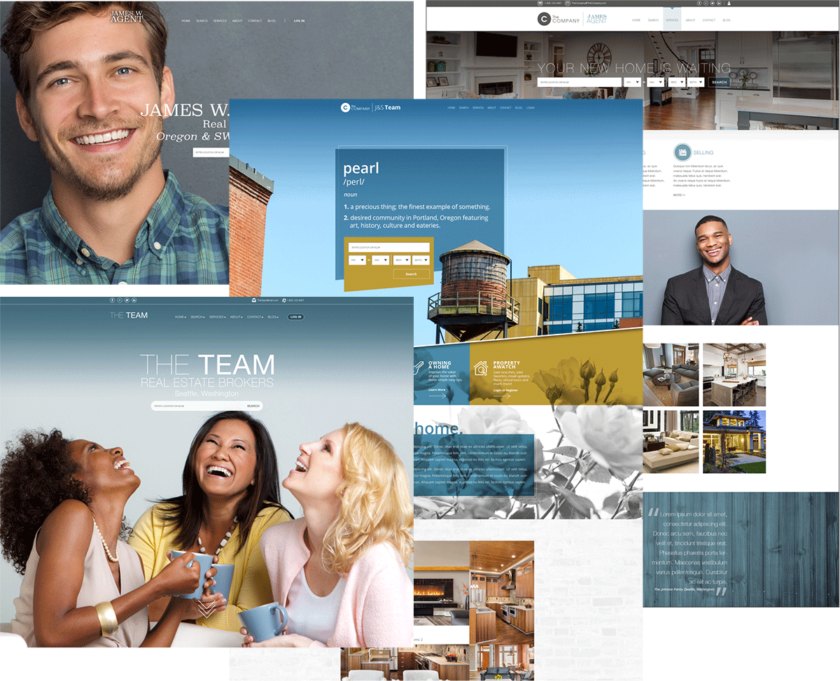 Designer website collection examples
