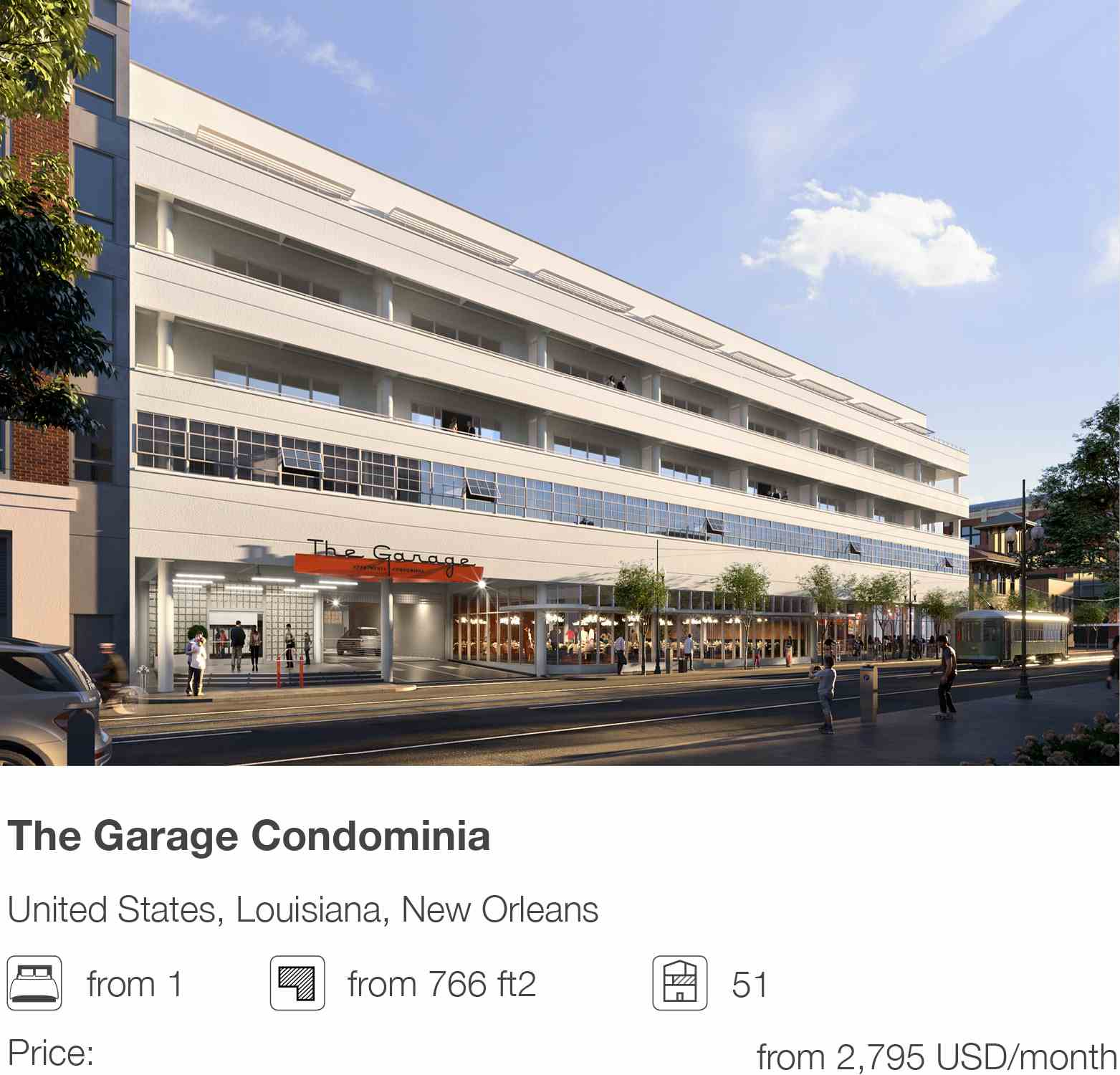The Garage Condominia development in New Orleans, Louisiana, USA
