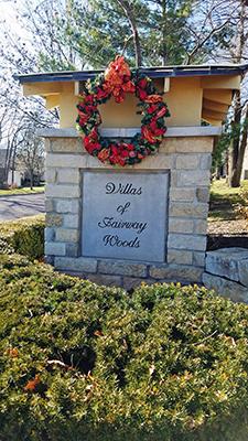 Monument sign at Villas of Fairway Woods in OPKS