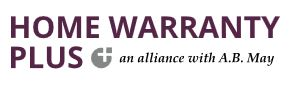 Home Warranty Plus, an alliance with A.B. May logo
