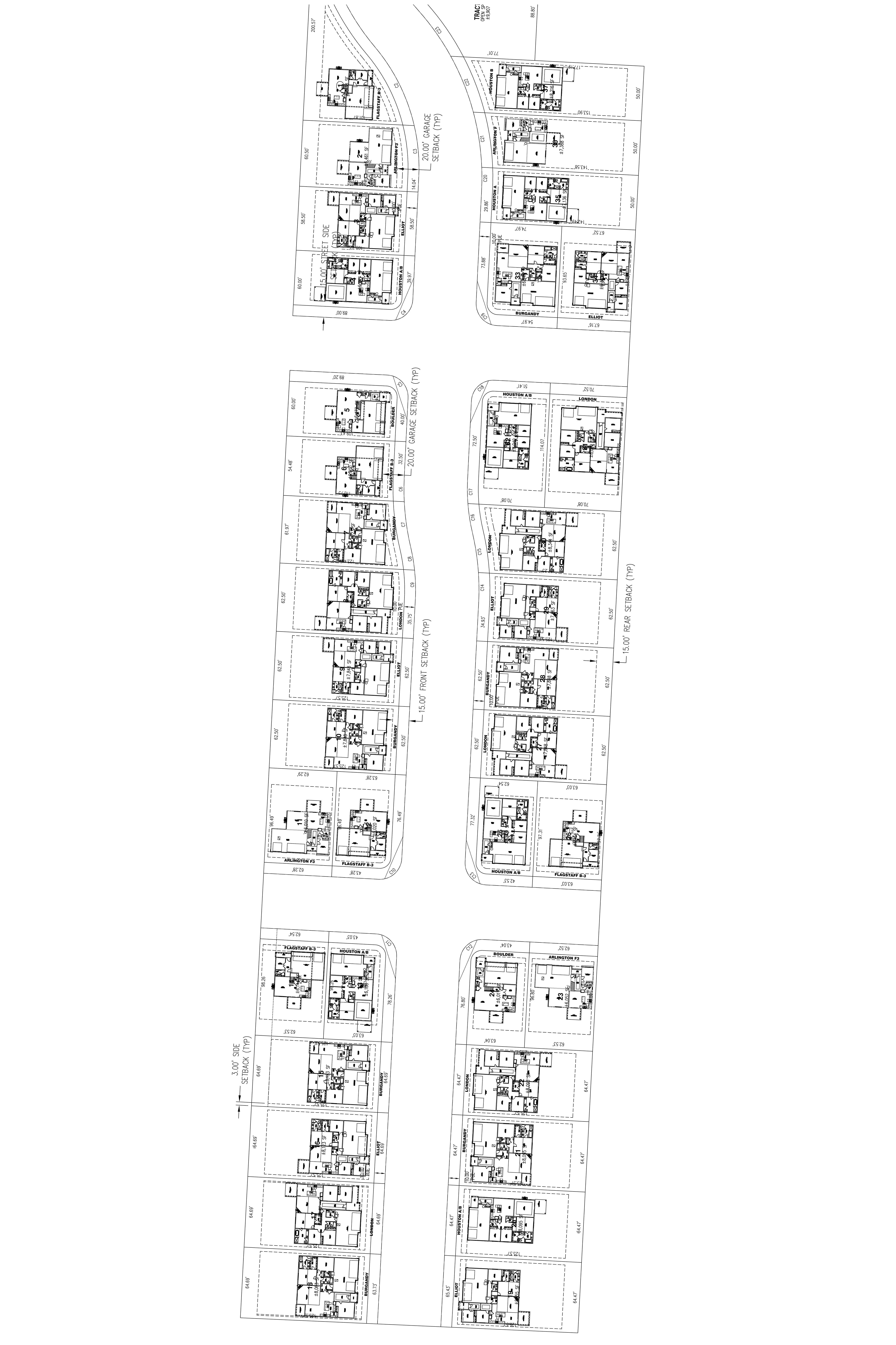 JR Meadows Lot Map