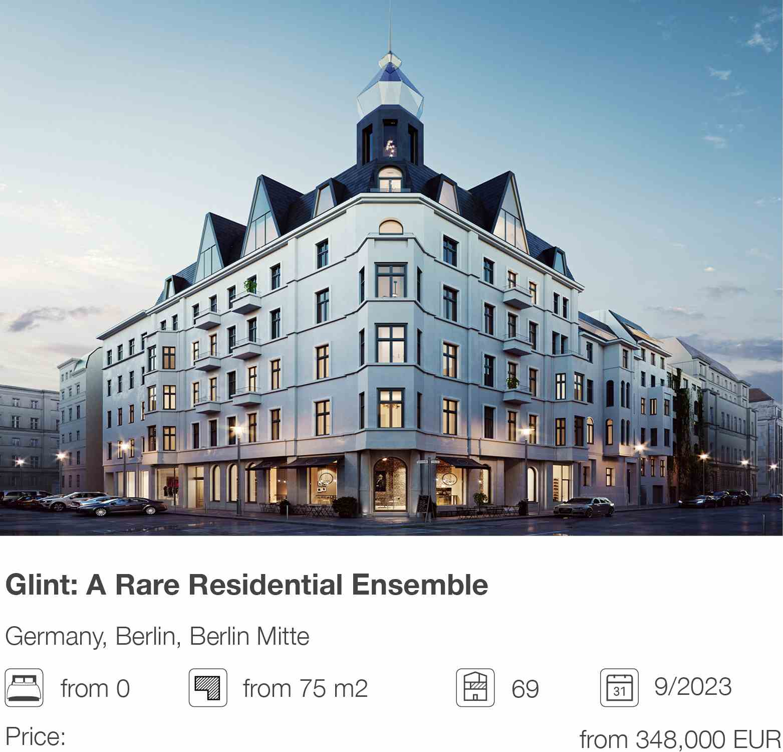 Glint: A Rare Residential Ensemble development in Berlin Mitte, Berlin, Germany