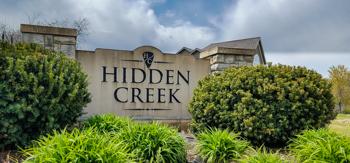 Entrance monument at Hidden Creek