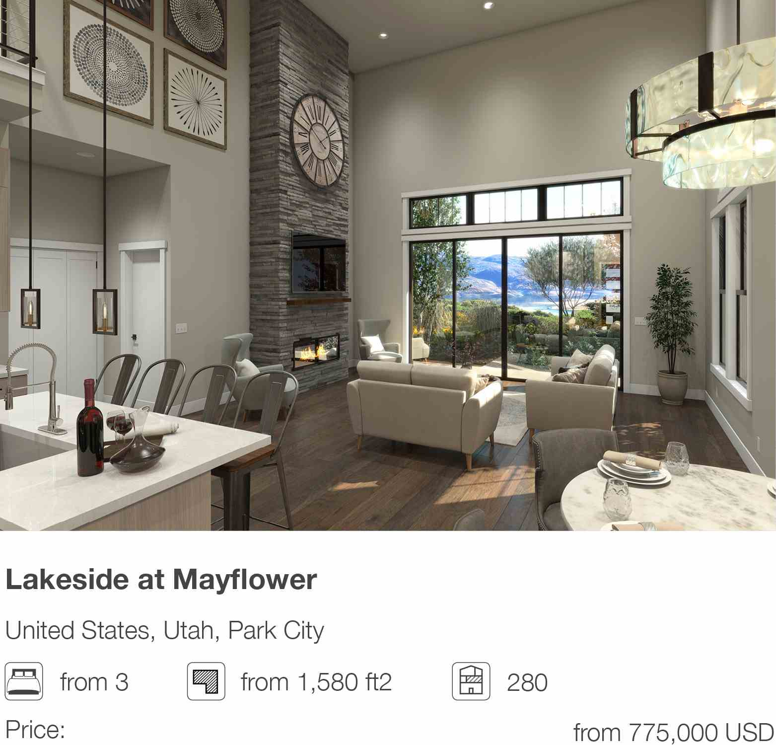 Lakeside at Mayflower development in Park City, Utah, USA