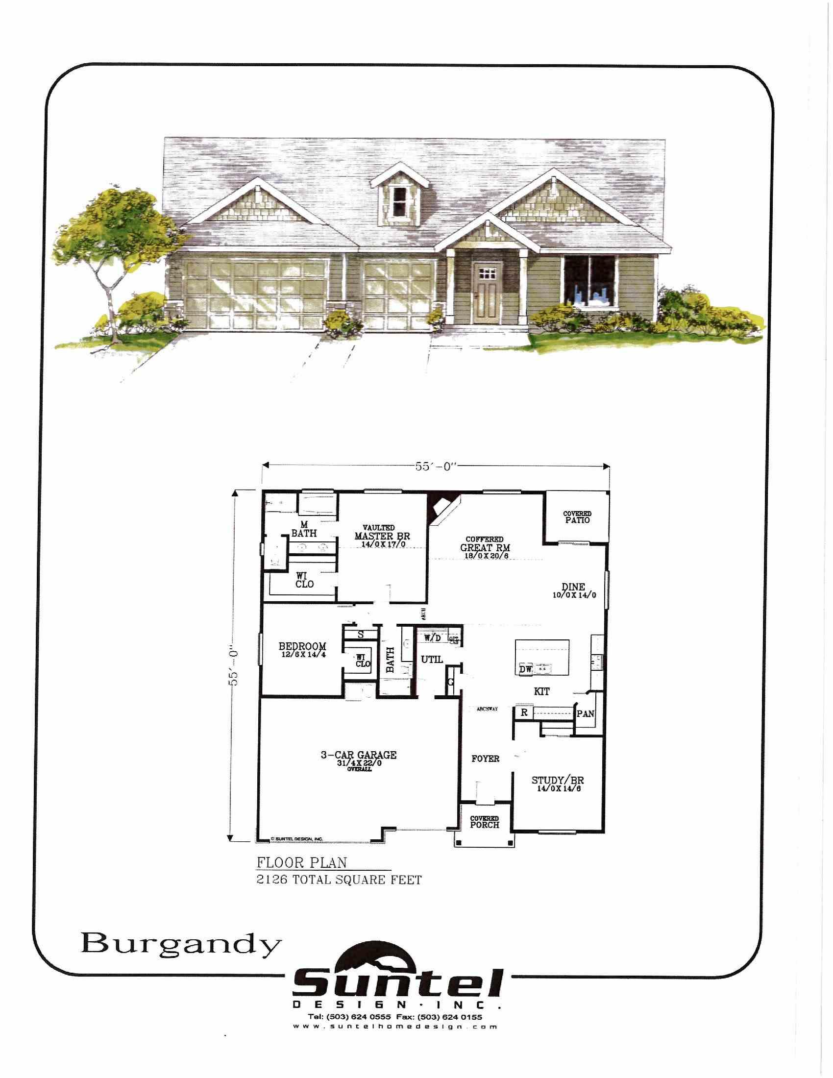 Burgandy Floor Plan JR Meadows