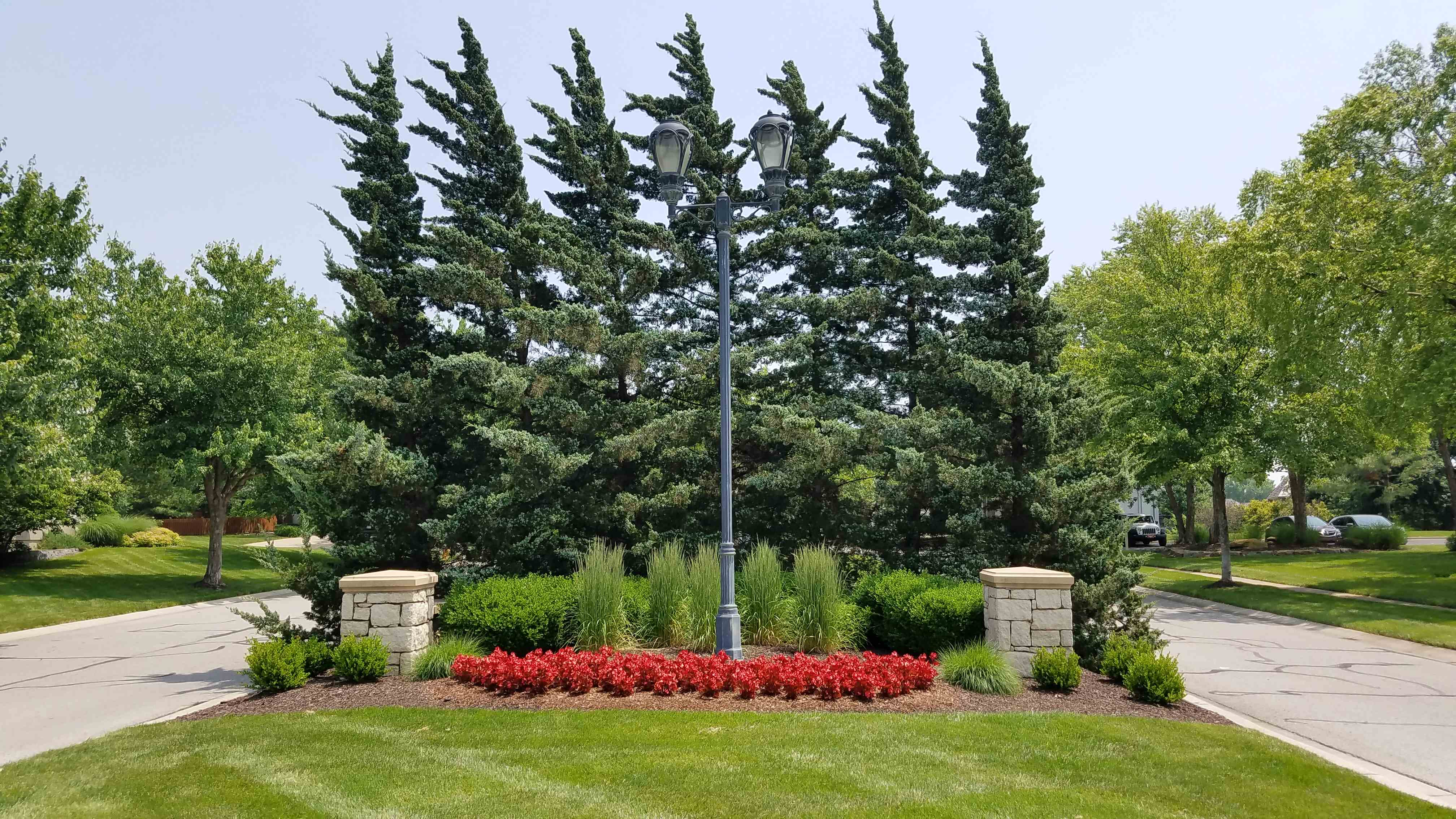 Lovely landscaping at Worthington