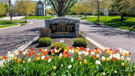 Entrance monument at Weybury
