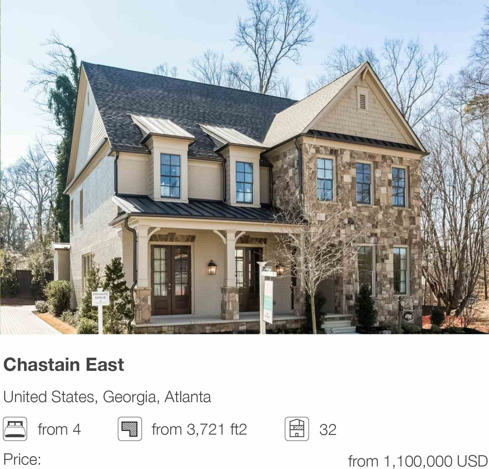 Chastain East development in Atlanta, Georgia, USA