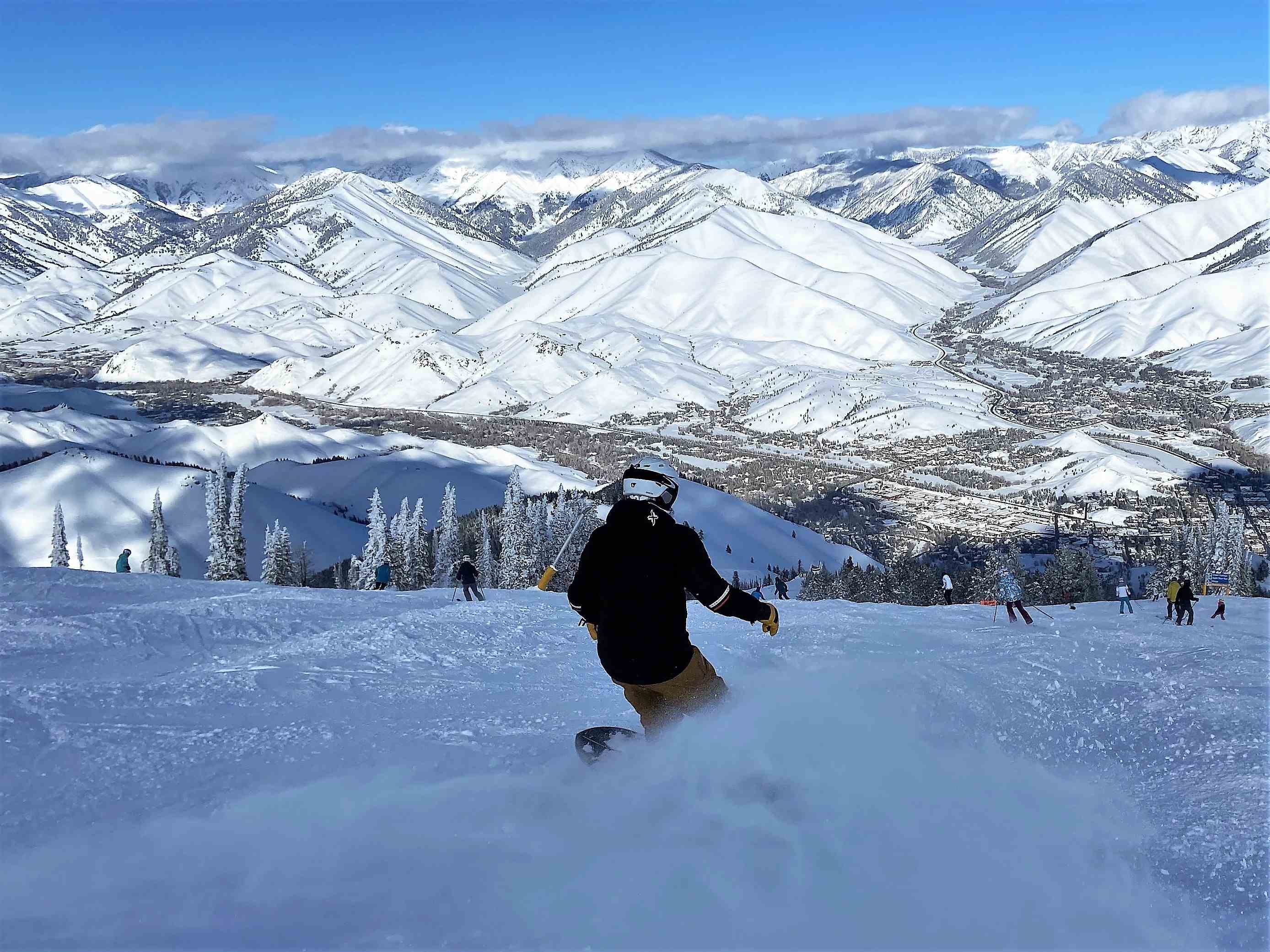 Skier Baldy Sun Valley Idaho