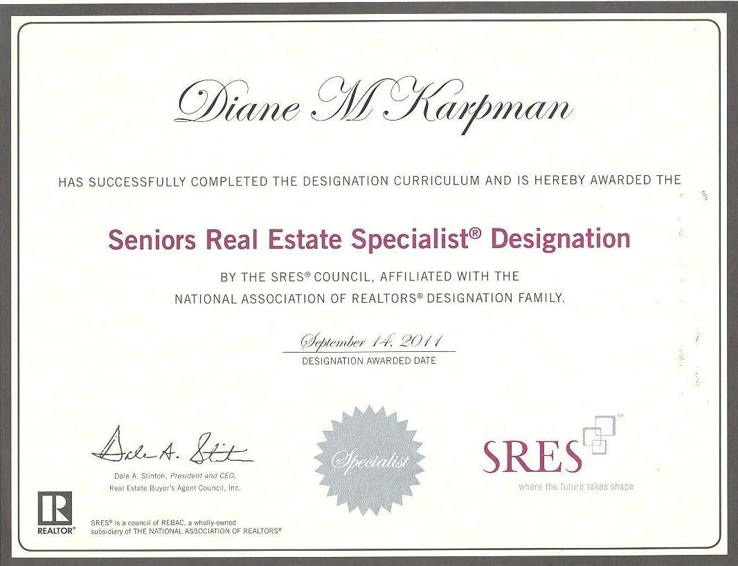 SRES Certificate