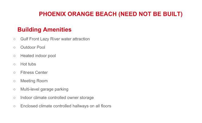 Phoenix Orange Beach For Sale
