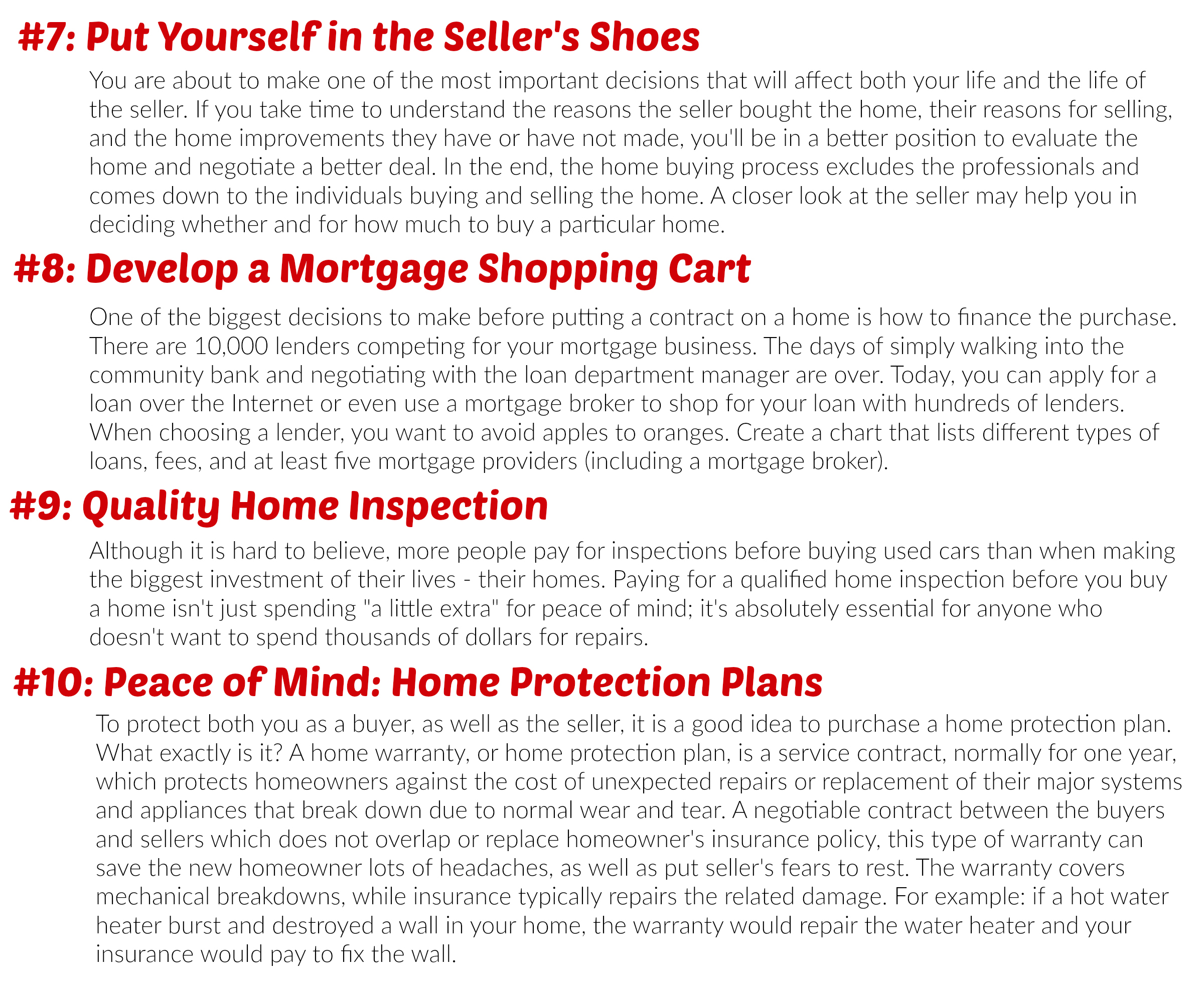 Buying a Home 7-10