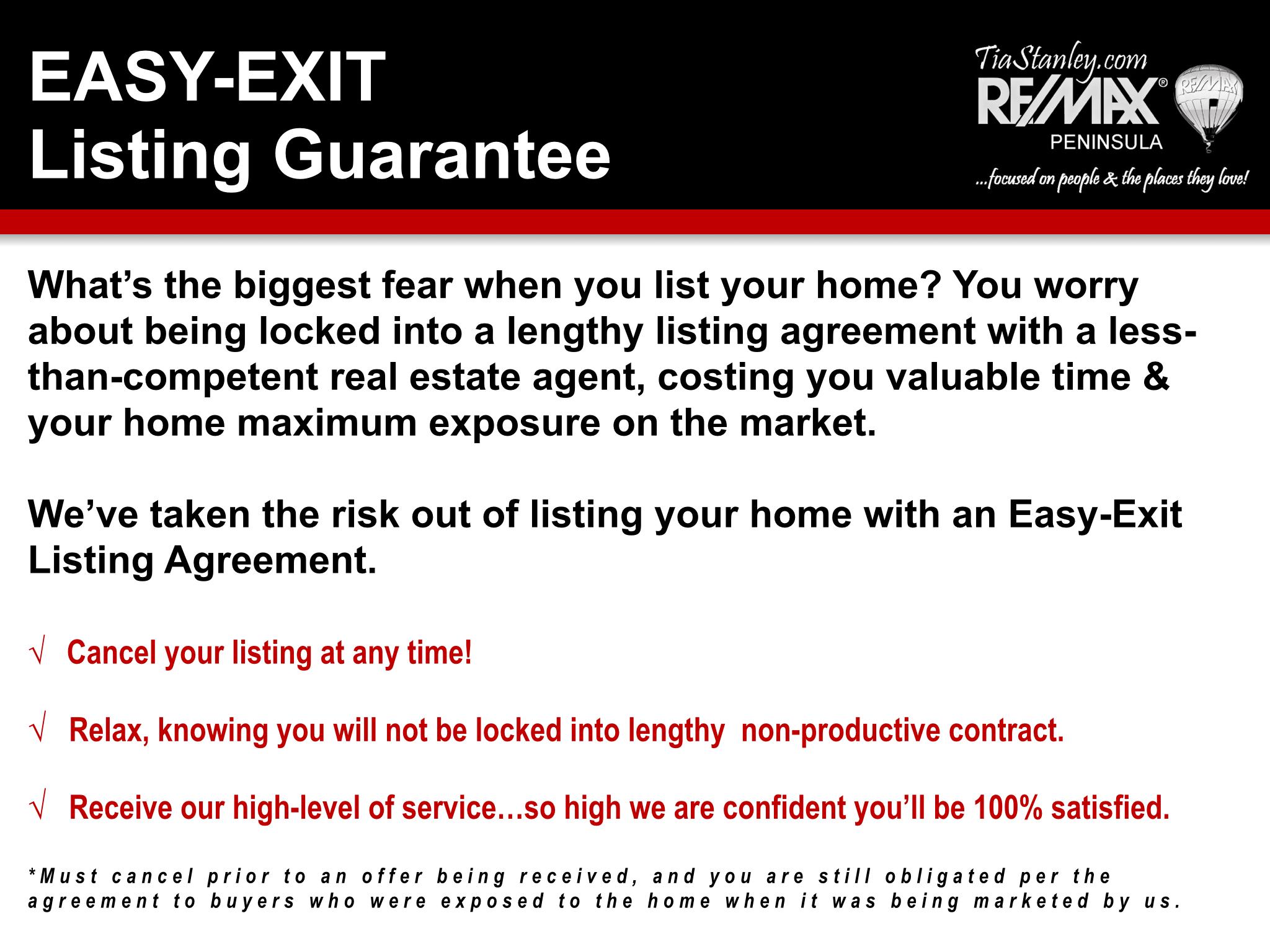 Easy Exit Guarantee
