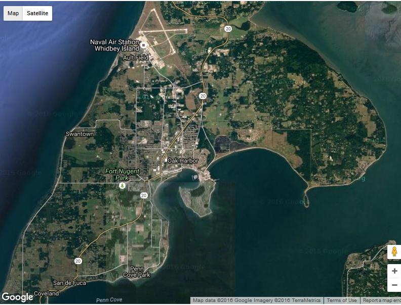 Oak Harbor WA Map