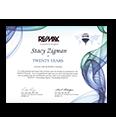 RE/MAX 20 Year Award