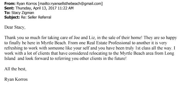 Ryan Korros testimonial letter