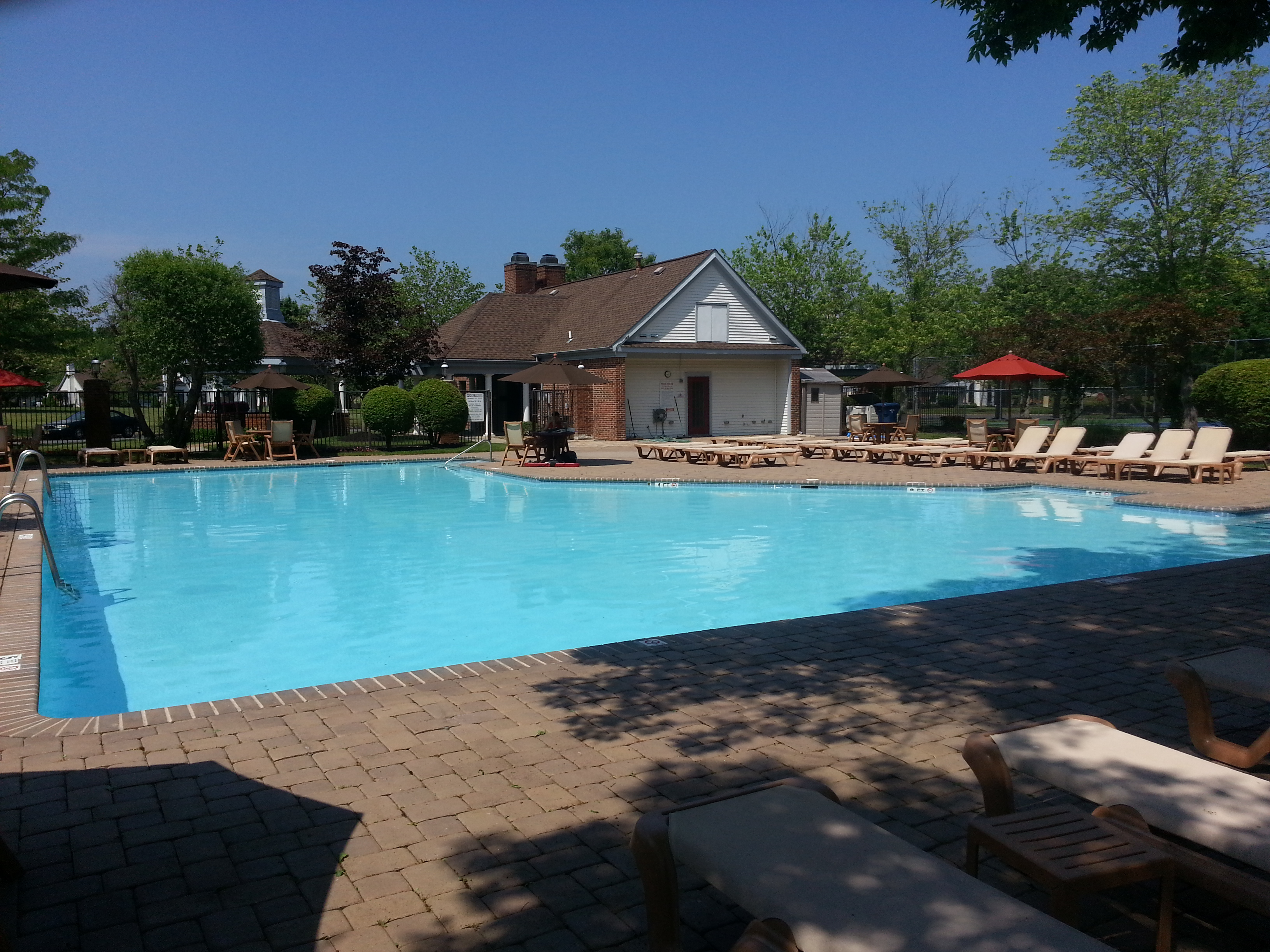 The Manor at Wayside in Ocean has a large community pool.