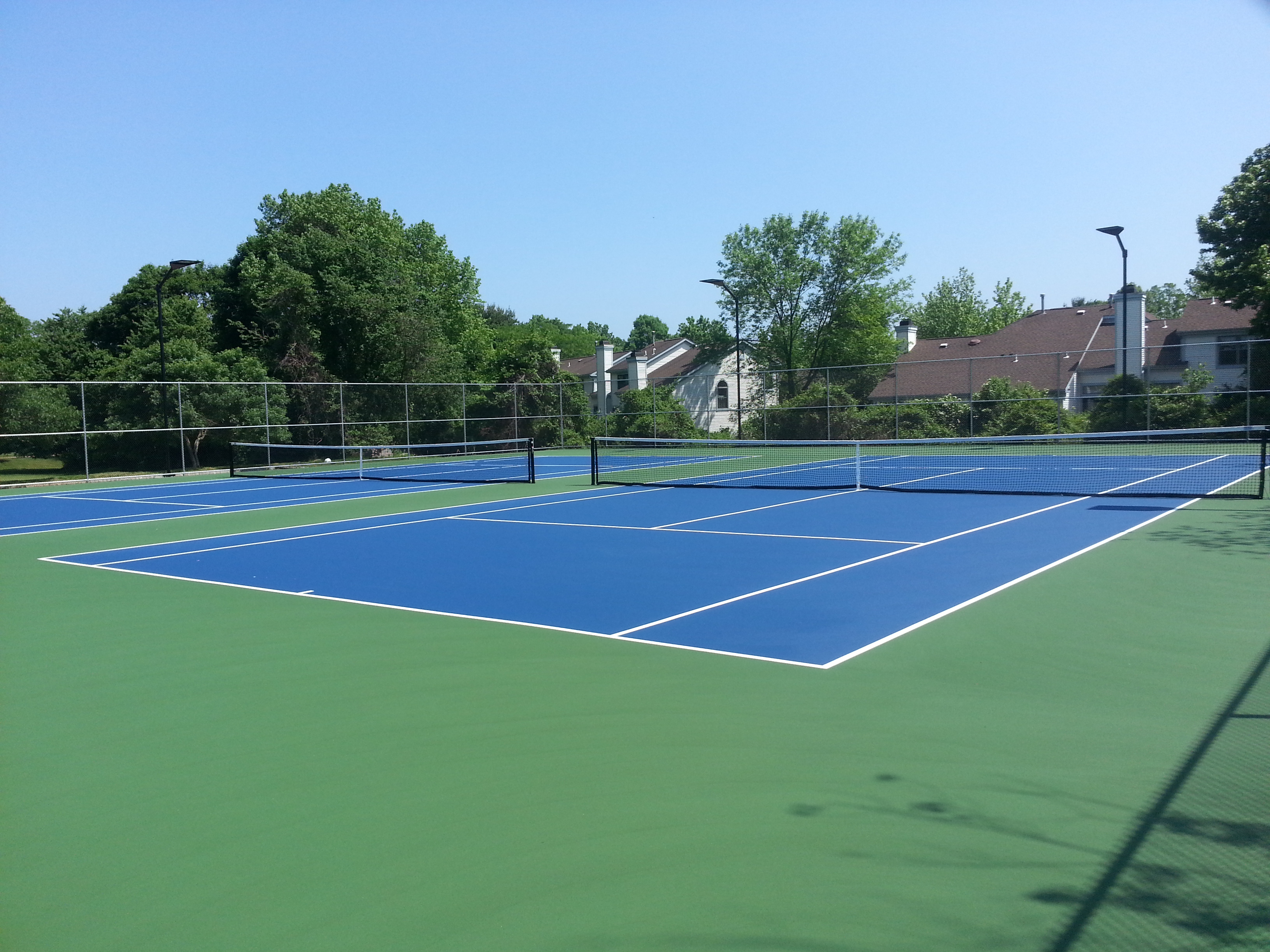 The Manor at Wayside in Ocean has two tennis courts.