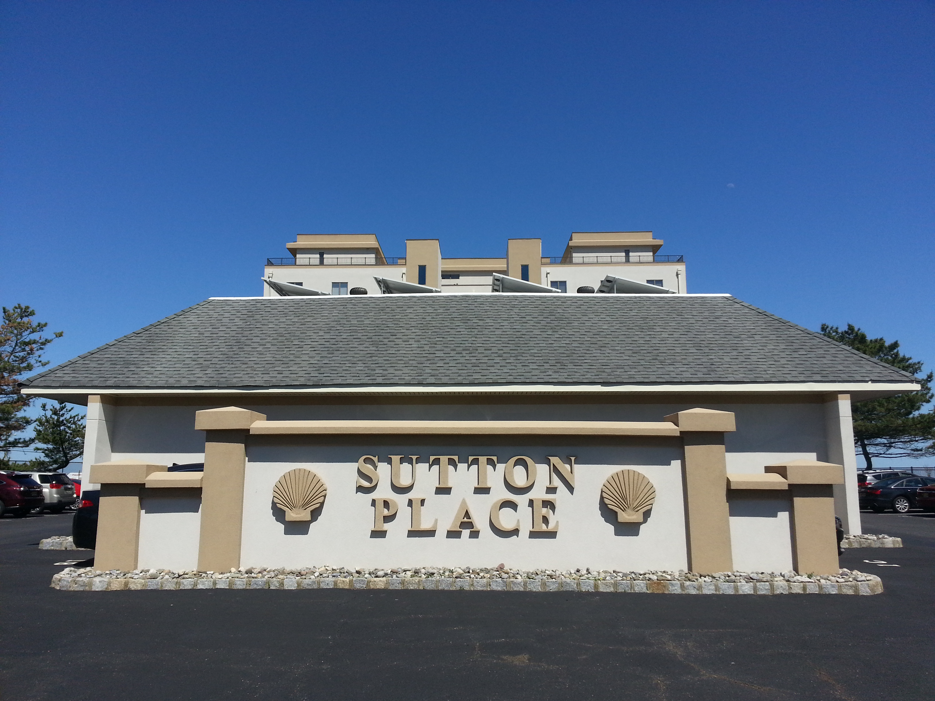 Located at 388 Ocean Ave. North, Sutton Place is a mid-rise condo on the Long Branch beachfront.
