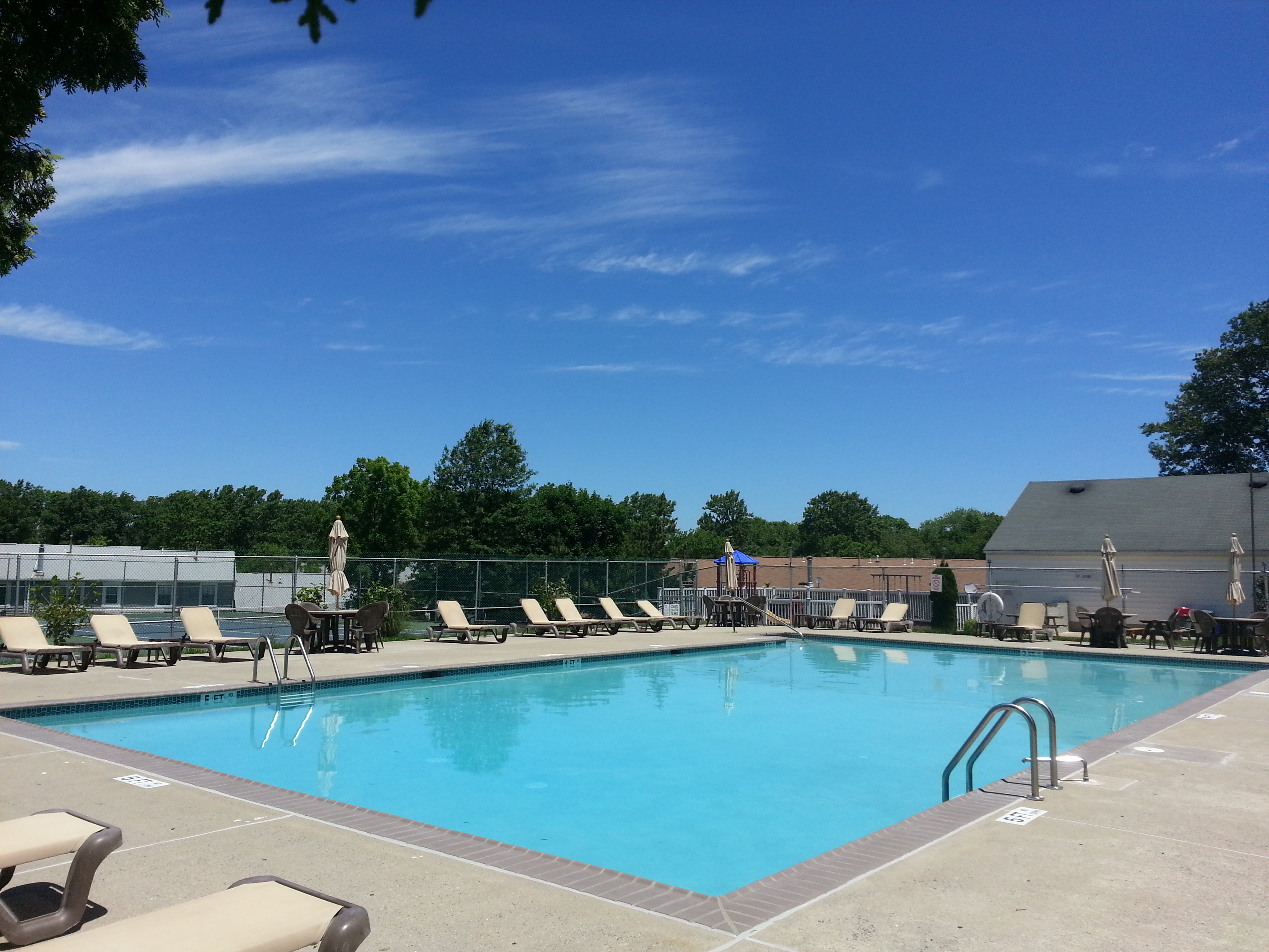 The Tinton Woods pool is a popular place in the summer months.