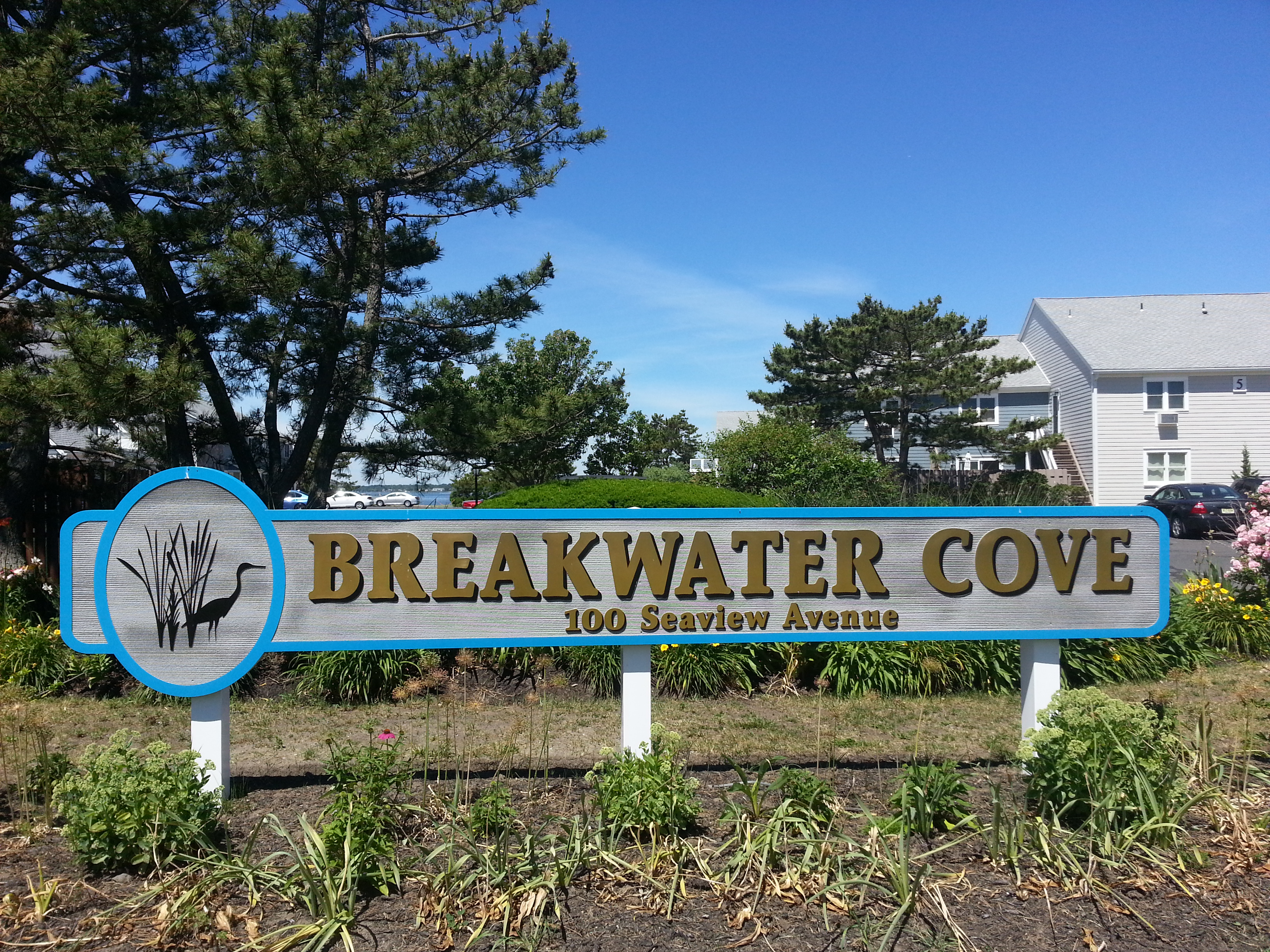 Breakwater Cove, located at 100 Seaview Ave is on the Shrewsbury River and a block from the beach.