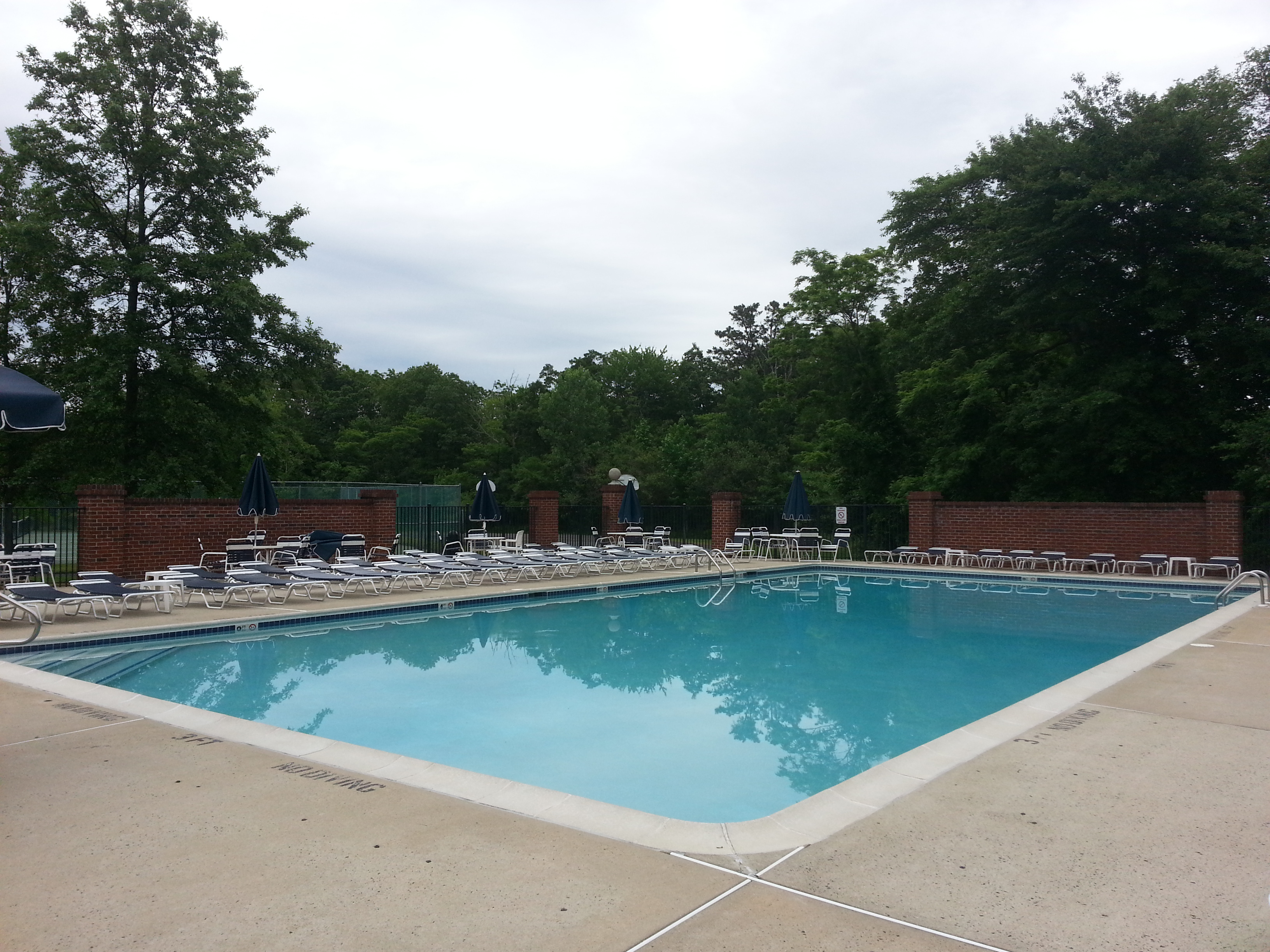 Hidden Meadows has a large pool and plenty of lounge chairs for everyone.
