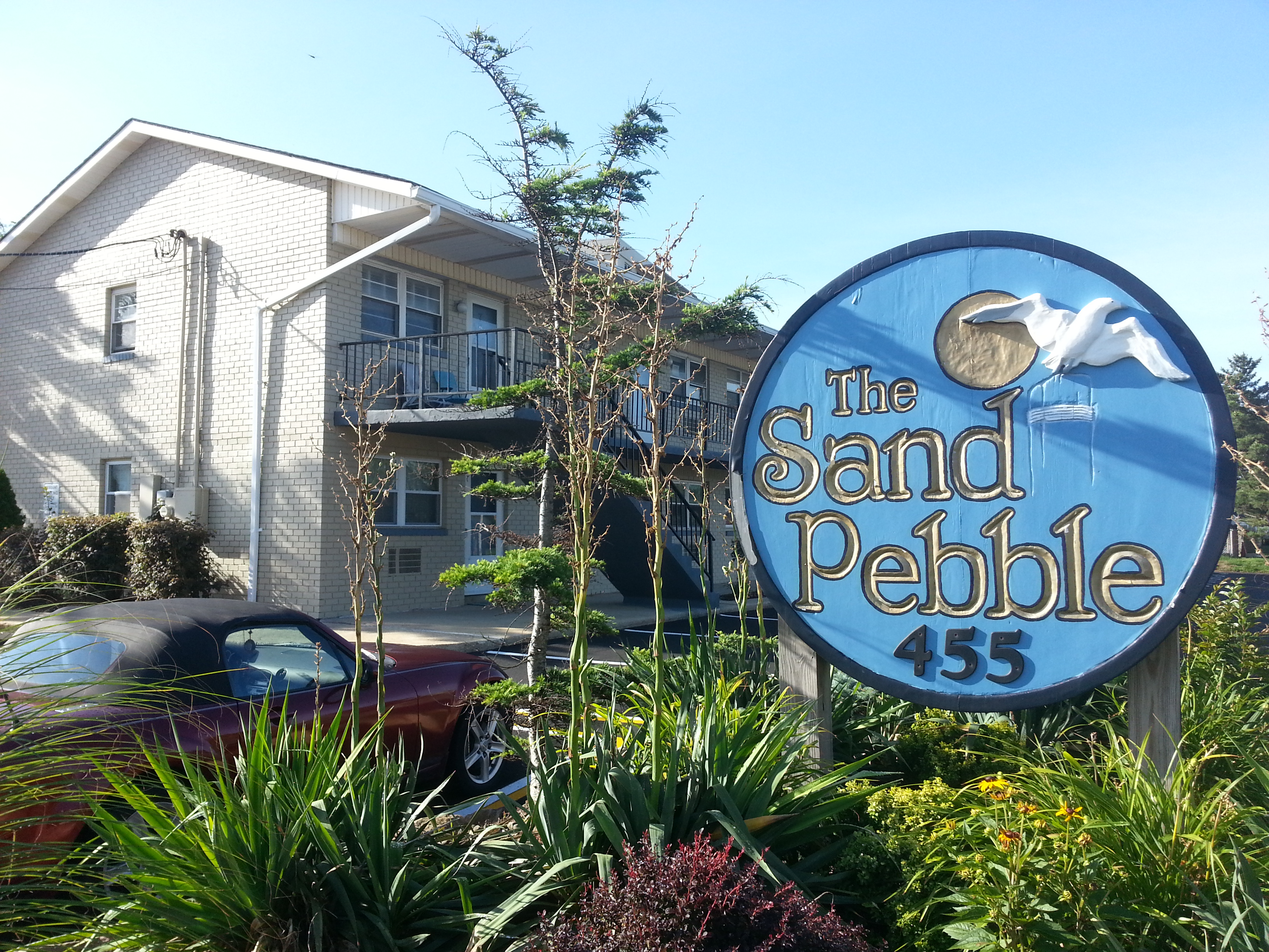 The Sandpebble Condiminium, located at 455 Ocean Blvd., is just 100 yards to the beach.