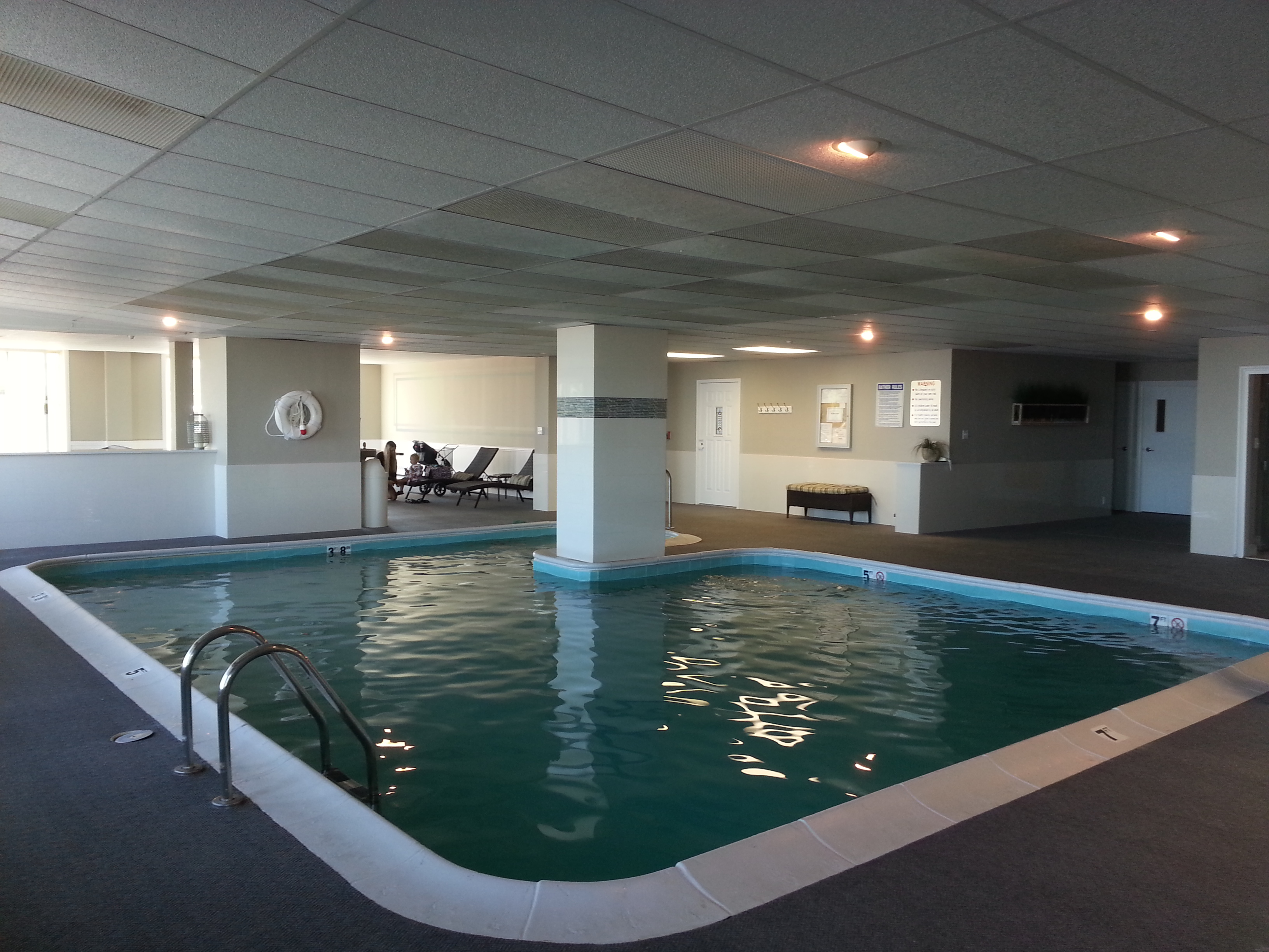 Harbour Mansion is just one of two beachfront condos with an indoor pool.