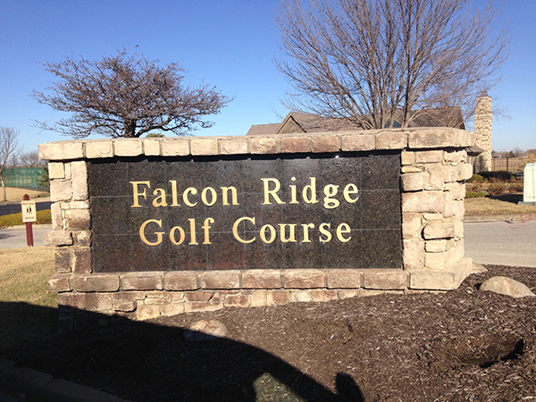 Entrance to Falcon Ridge Golf Course, Pool and Tennis Courts - Lenexa, KS