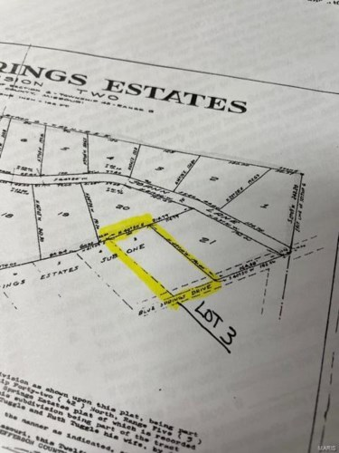 0 Lot 3 Blue Springs Drive, Imperial, MO 63052